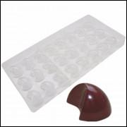 Molde Policarbonato Para Chocolate Modelo Lua 24 Cavidades