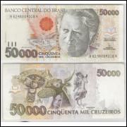 C226 - 50.000 Cruzeiros, 1992, Marcílio M. Moreira e Francisco Gross, fe. Câmara Cascudo.