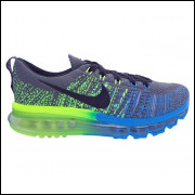 Tênis Nike Flyknit Air Max Grafite, Verde e Azul MOD:11887