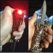 Faca canivete dragão isqueiro faca clássico criativo