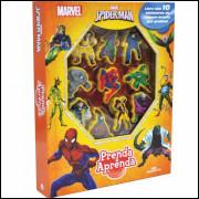 Livro Brinquedo (ilustrado) Spider-man Prenda E Aprenda