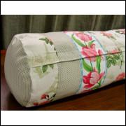 almofada de rolinho 100% algodão patchwork