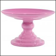 Boleira rosa bebê de cerâmica