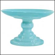 Boleira azul bebê de cerâmica
