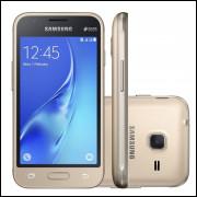 Smartphone Galaxy J1, Mini J105B Dourado,Android 5.1, 8GB, 5 MP, 3G - Desbloqueado