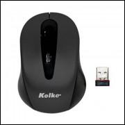 Mouse Sem Fio Wireless 800 Ddpi 2,4 GhzMs Km-116w Preto Kolke