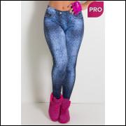 legging fitness fake jeans tribal. tamanho P