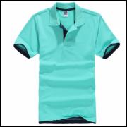 Camisa Polo Sport Plus - Verde C/ Detalhe Azul