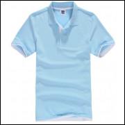 Camisa Polo Sport Plus - Azul C/ Detalhe Branco