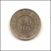 Moeda Brasil 50 réis 1887.- 191 -