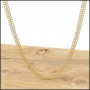 Corrente Malha Lacraia de 45 cm, em Ouro Amarelo 18 k