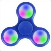 Hand Spinner Com Led- Queima De Estoque Azul