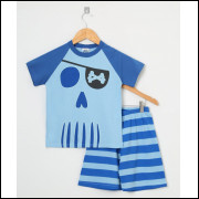 Pijama Infantil Menino Pirata Azul