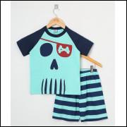 Pijama Infantil Menino Pirata Verde