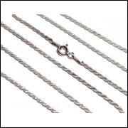 C0026 Corrente em Prata 925 Serpentina Cordão Baiano Unissex