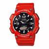 Relógio Casio Aq-s810  vermelho bateria Solar recarrega hora mundial frete grátis