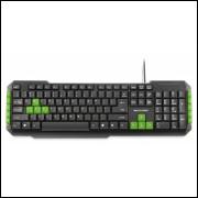 Teclado Multimidia Gamer Teclas Verdes Usb Multilaser - Tc20
