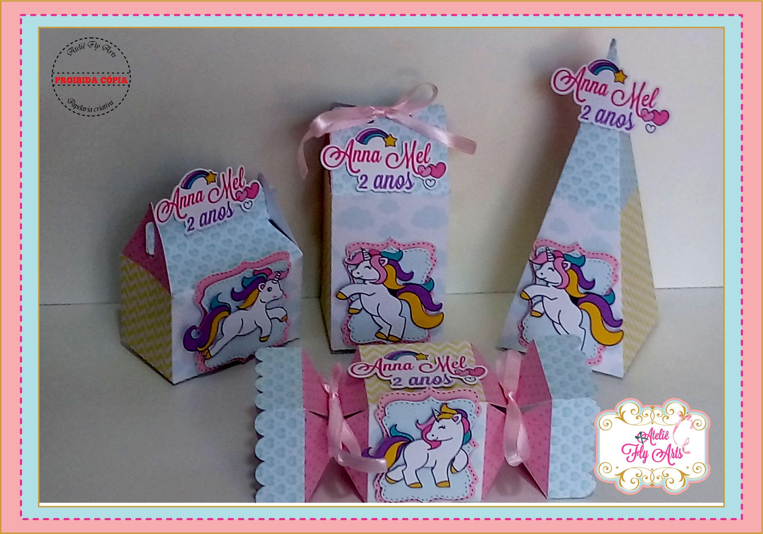 40 lembrancinhas unicornio