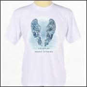 Camiseta Camisa Branca Estampada Banda Rock Rap Pop Coldplay