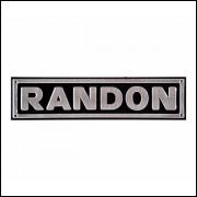 Placa de alumínio lateral carreta Randon