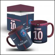 Caneca Camisa 2018 Paris Saint Germain- Neymar  + Caixinha com Nome