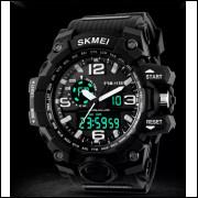 cdda5a7a971 Relógio Masculino Skmei 1155 detalhe preto Original Esportivo Prova D Água