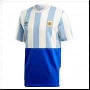 Camisa Argentina Retrô Comemorativa Adidas