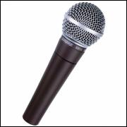 Microfone Profissional Com Cabo M-58 Qualidade Única