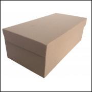 Caixa Para Sapato Parda Fosca 28x14x9,5 - Pacote 50 Unidades