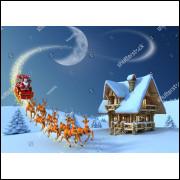 Painel Sublimação em Tecido Papai Noel 3,0 Alt X 4,0 Larg Sem Emenda