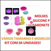 Kit 04 Unidades Molde Silicone Para Sabonete!