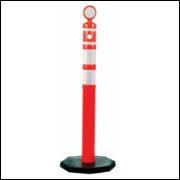 Pedestal Balizador Canalizador de fluxo