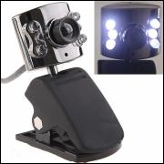 Webcam 0.3MP com 6 luzes LED USB 2.0