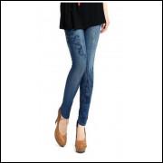 Legging Que Imitam Jeans - Azul - Frete Grátis
