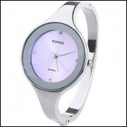 Relógio Quartzo Bangle Bracelet Com Alça Fina - Lilás