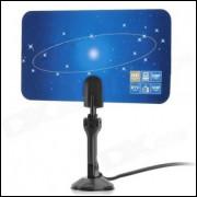 Uhf - Vhf Antena De Tv Digital Indoor Para Hdtv - Stb - Azul