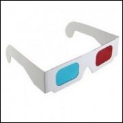 Óculos 3d Movie Dvd Vermelho-azul - Papelão - Frete Grátis