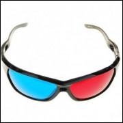 Óculos 3d Anagrifo Vermelho + Azul -ciano Acrilico