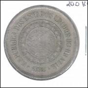 1898 - Brasil, 200 Réis, cuproníquel, mbc.