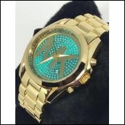 Relógio Feminino Dourado Bonito, Barato, Elegante Promoção frete grátis