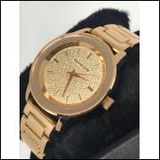 Relógio Feminino Dourado rose Bonito, Barato, Elegante Promoção frete grátis