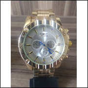 Relógio Masculino Luxo Dourado Importado Relógio Top pulseira de aço: