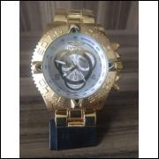 Relógio Masculino Luxo Dourado Importado tamanho grande pesado