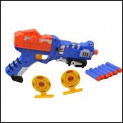 Pistola Lança Dardos 9 Pçs Rapid Fire