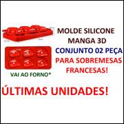 Molde Silicone Manga 3d (conjunto 2 Peças) 06 Cavidades
