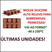 Molde Silicone Alto Relevo Redondo 8 Cavids 29.8x13.3x4.5cm