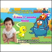 20 Convites Galinha Pintadinha com foto frete grátis