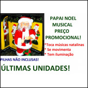 Papai Noel Musical Natal Promoção 23 Cm