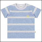 Camiseta Infantil Elian Listras Azul