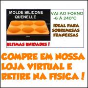 Molde Silicone Quenelle Para Sobremesas 29x13x3.4cm